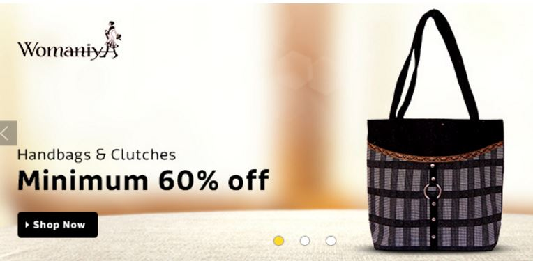 Buy Womaniya Handbags Online up to minimum 60% off