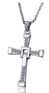 Yellow Chimes Vin Diesel Smart Cross Platinum Plated Alloy Pendant