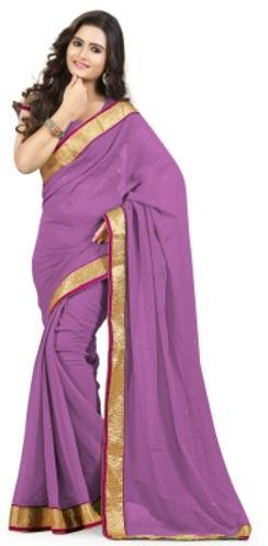 Ysk Embellished Fashion Handloom Chiffon Sari
