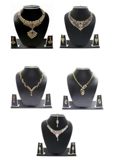 Zaveri Pearls Stunning 5 Combo Zinc Jewel Set