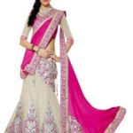 Sabse Sasta Embroidered Lehenga Saree(Georgette, Net, Chiffon, Jacquard Sari) with Blouse Piece Starts @ Rs 815