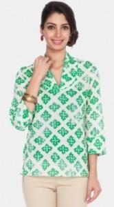 Zovi Casual 3 4 Sleeve Printed Women's Top