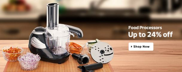 Flipkart offers up to 24% off on the Food Processors Online