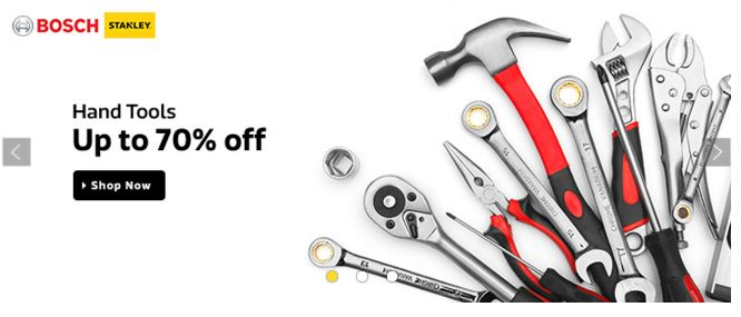 flipkart offers up to 70% OFF on wide range of Hand Tools