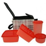 iHomes Check Design 4 Containers Lunch Box Price: Rs. 158