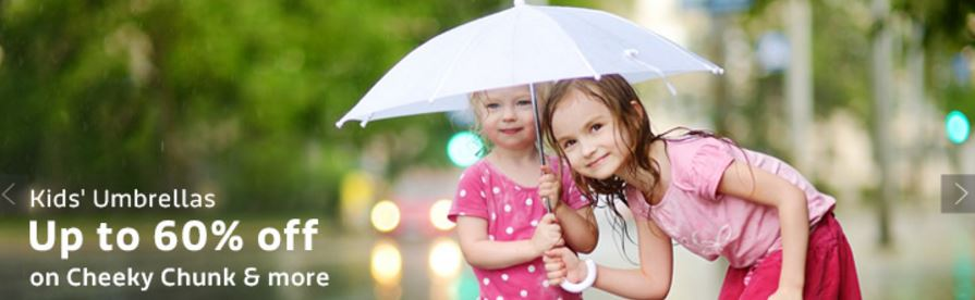 Buy Kids umbrella on discounts upto 60% discount rates from flipkart online