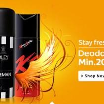 minimum 20 percent discount deodorants