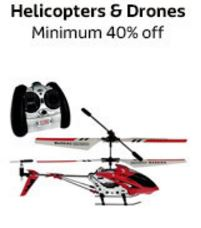 flipkart offers upto 40% discount offers on helicopter and drone toys