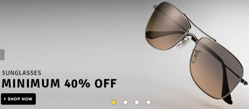 buy the sunglasses with the minimum 40% discount rates