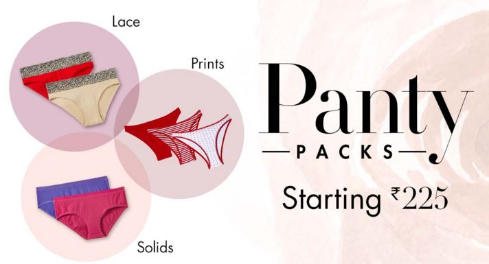 panty packs starting Rs 225