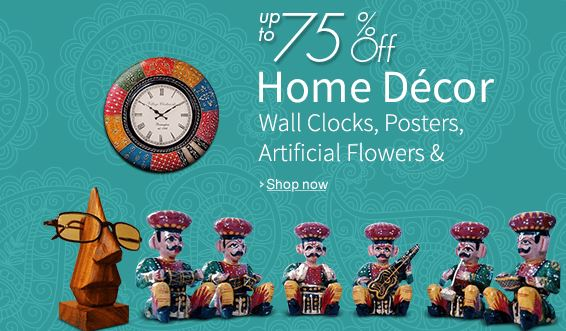 Upto 75 off on home decor online from amazon india for Best online shopping for home decor