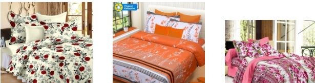 Upto 60% Off on Bedsheets, Curtains & more from flipkart
