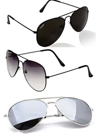 Combo Set of 3 UV Protect Aviator Sunglasses for Men/Women @ Rs 499 from Amazon india