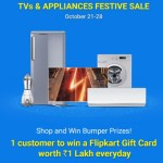 Flipkart TVs and Appliances Festive Sale Oct 21 – 28