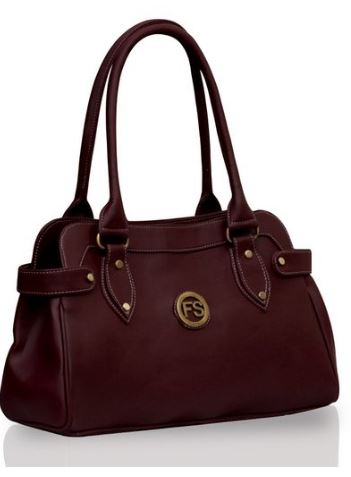 fostelo-womens-handbag-maroon-fsb-391