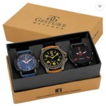 Gesture Attractive Arrogant Combo of 3 Stylish Creative Analog Watch – For Men
