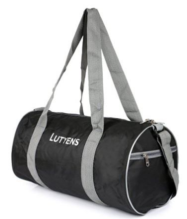 Lutyens Polyester Black Grey Gym Bags (19 Liters) @ Rs 199