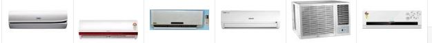 10 Bestsellers in Air Conditioners with higher Star rating from amazon india