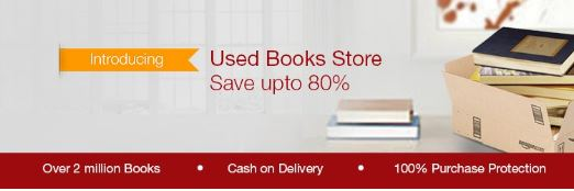Amazon Used Books Store : Upto 80% discount