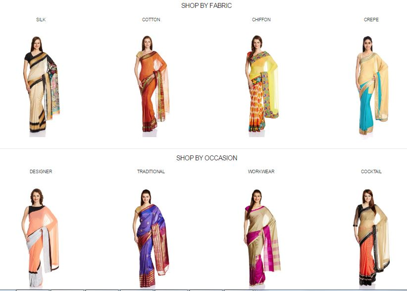 Amazon offers : Upto 85% OFF  on Women's Ethnic Saree Collection