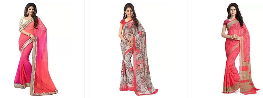 Best Offers on Chiffon Sarees Online