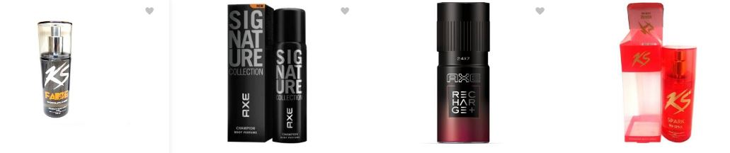 Flipkart offers : Upto 60% off on the men/women deodorants(Sprays,Roll-ons,Combos)