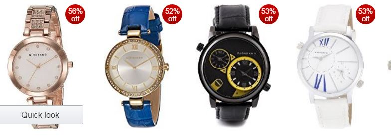 Amazon offers :Giordano watches: Up to 50% off