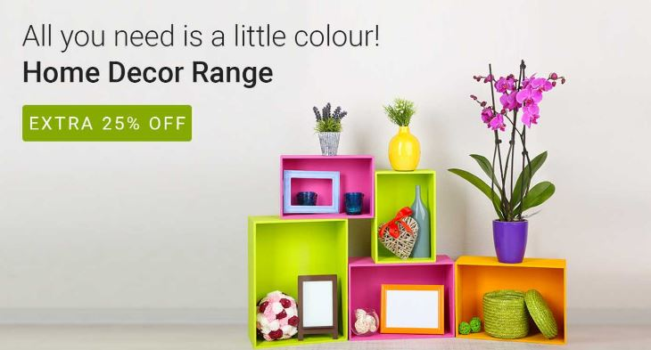Flipkart offers on home decor min 50% OFF