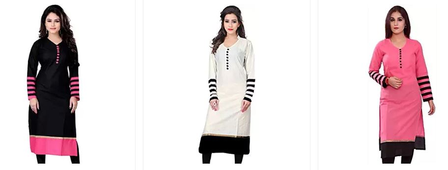 Best Offers on kurtas for women online from Amazon india starts with Rs 150
