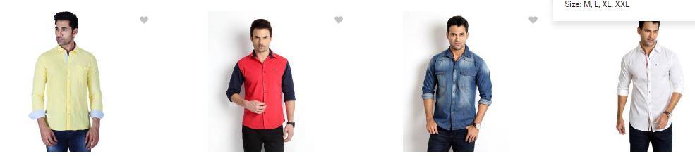 flipkart.com offers : upto 70% off on Men's Shirts