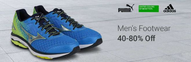 Flipkart offers upto 40 to 80% OFF on men footwear