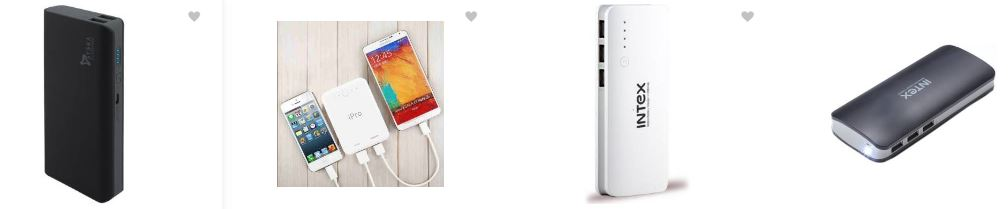 Hot in Power Banks from Amazon india starts from Rs 500