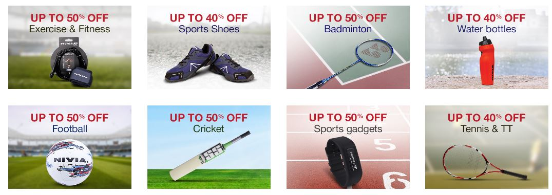 Best Deals on Sports Goods at Amazon India