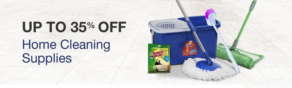 Upto 35% discount on the home cleaning supplies From Amazon india