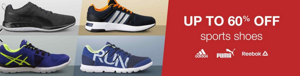 Amazon Offers : Branded sports shoes up to 60% off