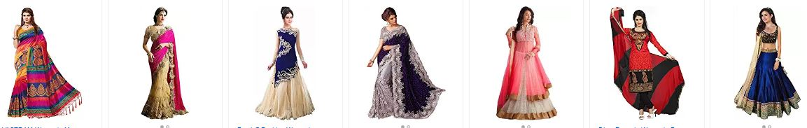 Amazon offers : Upto 65% OFF  on Women's Ethnic Clothing