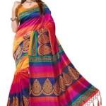Women's Mysore Art Silk Saree with Blouse Piece