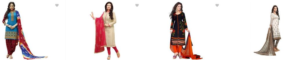 Flipkart offers : Minimum 40% OFF on Dress Materials