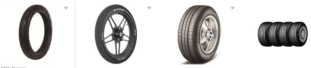 Flipkart offers upto 40% off on the 2/4 bike or car tyres