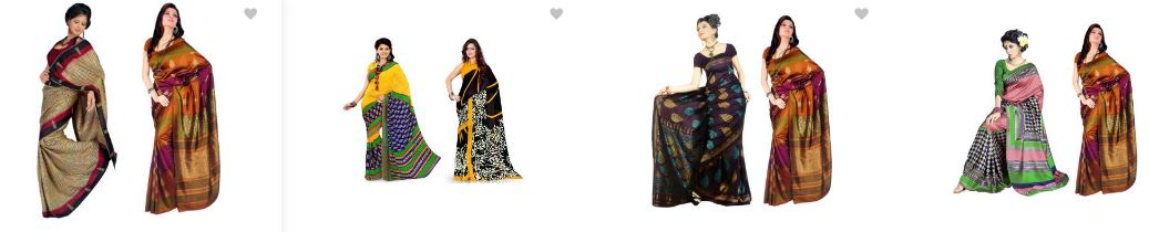 Flipkart Offer : Saree Combo Pack(Buy 1 & Get 1 Free)