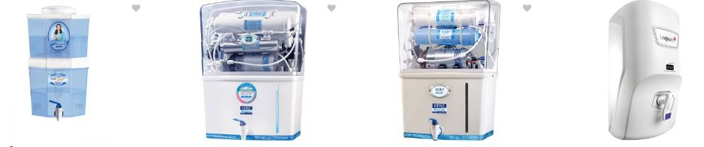 Flipkart offers upto 20% discounted prices on the top brand water filters