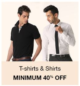 Amazon Men T-shirts & shirts - Minimum 40% OFF