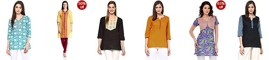 Amazon offers great discounts upto 70% on the best seller women kurta