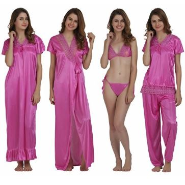 miavii-womens-6-piece-pink-nighty-set1-nighty-1-robe-1-top-1-bottom-1-bra-1-panty