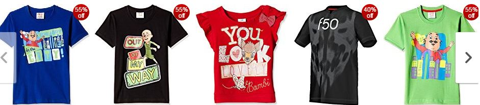 SnapDeal offers on upto 80% off on the Kids T-shirts online