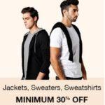 Buy Amazon Offer : Minimum 30% off on men's jacket, sweater & Sweat shirts