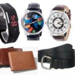1 Digital Band + 2 Strap Watches + Leather Wallet + Leather Belt Worth Rs.599 for Rs.295 @ Shopclues