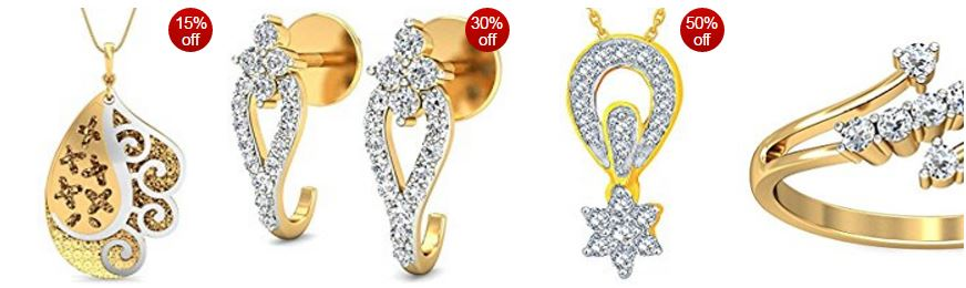 Amazon Offer : 30% to 60% off: gold & diamond jewellery