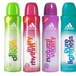 Adidas Adidas Fruity Rhytm, Natural Vitality, Pure Lightness and Floral Dream (Pack of 4) Deodorants Body Spray – For Girls, Women  (150 ml)