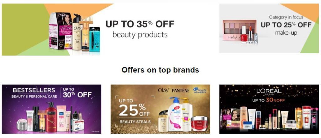Amazon offers on beauty products online